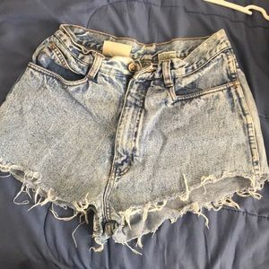 Pants - Blue high waisted shorts